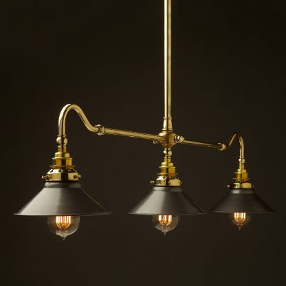New Brass single drop Billiard Table Light steel hat