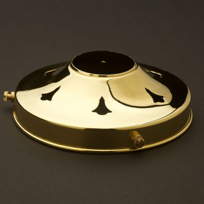Polished brass 4 1/4 Inch shade fitter