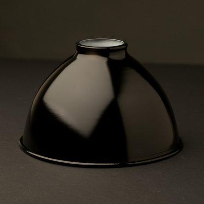 Black dome enamelled shade