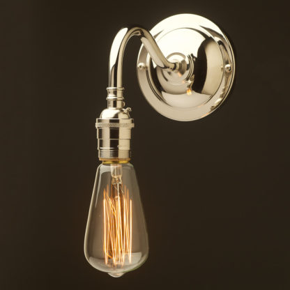 Nickel plated Coventry bend wall sconce