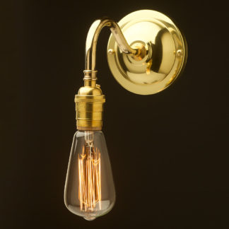 Polished Brass Coventry bend wall sconce
