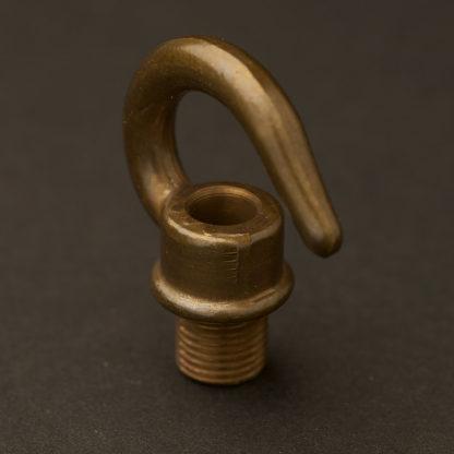 Antique Brass screw in hook 10mm