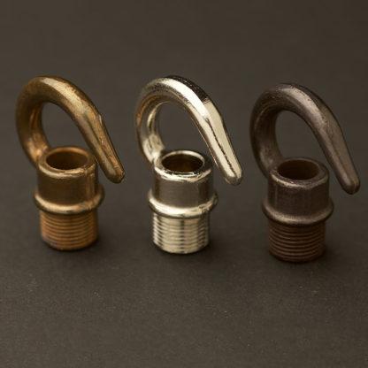 Brass screw in hook