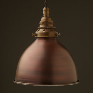 Bronze dome shade Brass E26 Pendant Antique brass