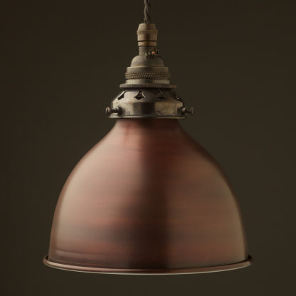 Bronze dome shade Brass E26 Pendant Bronze