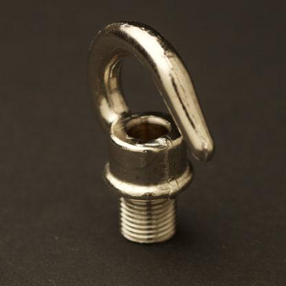 Nickel Brass screw in hook 10mm