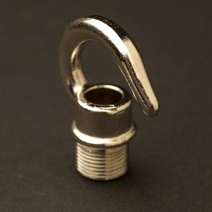 """Nickel Brass screw in hook 1/2"""""""