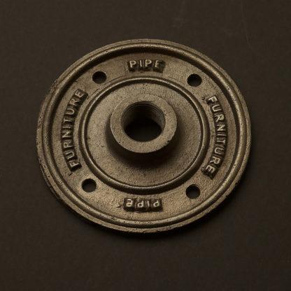 Half Inch Black Steel 15mm decorative flange plate