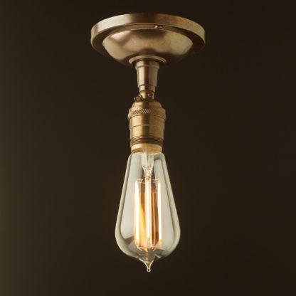 Antique Brass ceiling mount light UNO thread