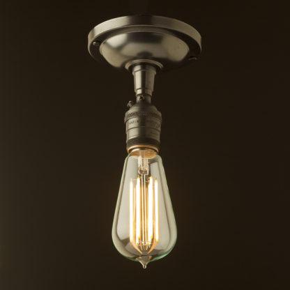 Bronze ceiling mount light UNO thread