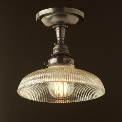 Bronze ceiling mount light holophane dish