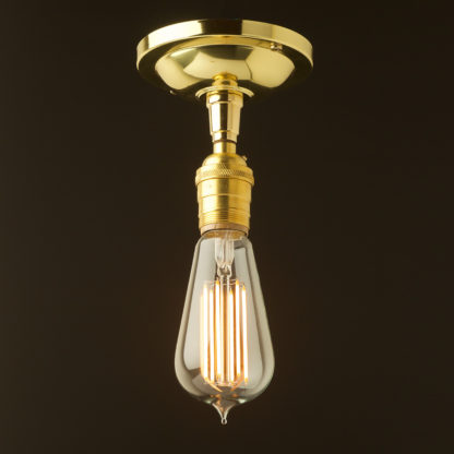 Polished Brass ceiling mount light UNO thread