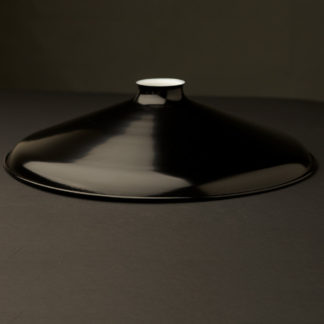 Black 14 inch enameled coolie shade