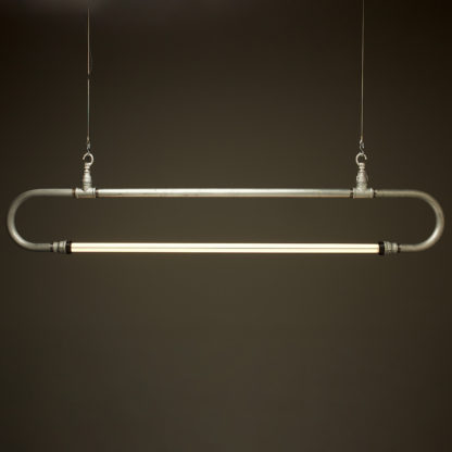 Five foot half inch pipe loop LED tube light