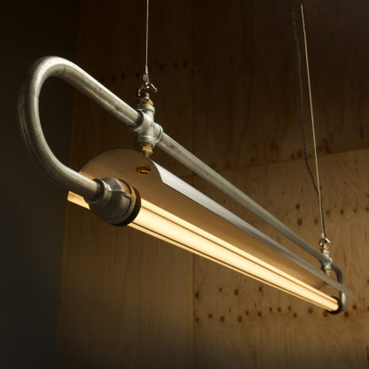 59 inch X one inch pipe loop LED tube light shade detail