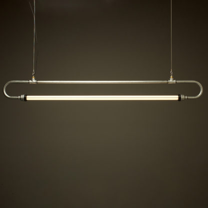 59 inch X one inch galvanised pipe loop LED tube light