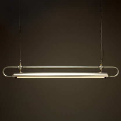 59 inch X one inch pipe loop LED tube light shade