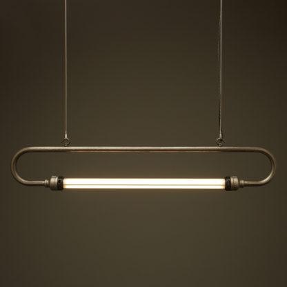 37 inch half inch raw steel pipe loop LED tube light