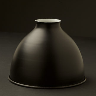 Flat black dome 2.25 fitter type light shade