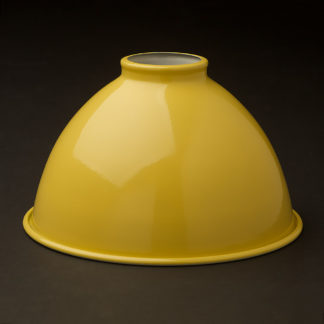 Yellow dome 2.25 fitter type light shade 7 inch