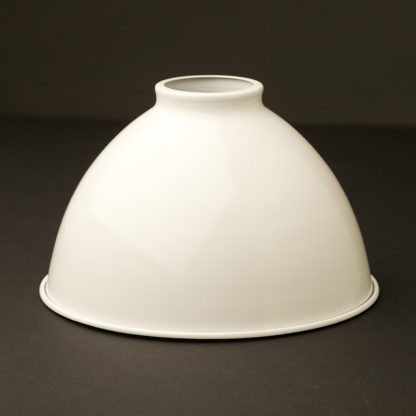 White dome 2.25 fitter type light shade 7 inch