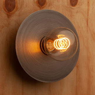 7 inch antiqued steel wall mount disc sconce