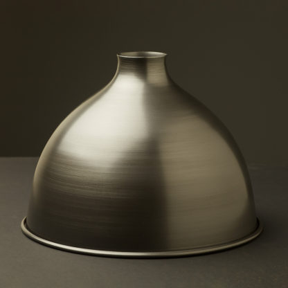 Antiqued steel dome light shade 10.5 inch