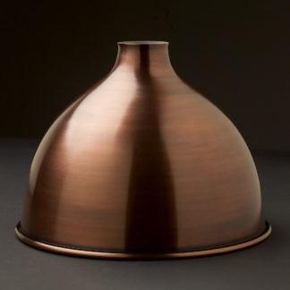 Bronze finish dome light shade 10.5 inch