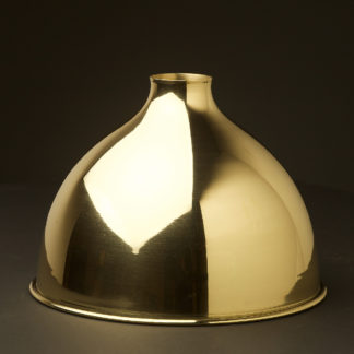 Polished brass dome light shade 10.5 inch