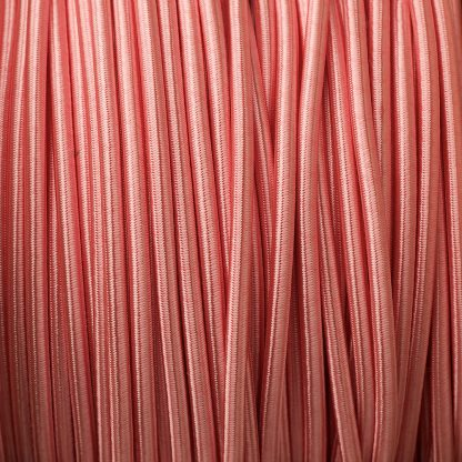 Baby Pink 3 core braided pulley-cable