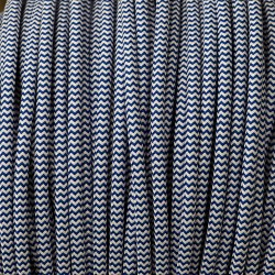 Blue-and-white-zig-zag-pulley-cable
