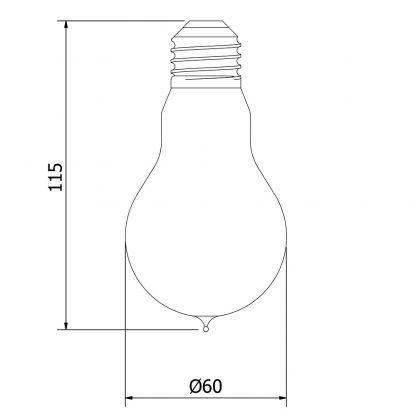 Vintage Edison round tungsten filament bulb
