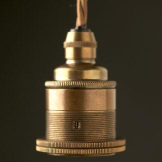 Antique Brass Pendant Lamp holder Edison E27 fitting