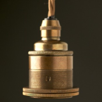 Lampholder brass antique