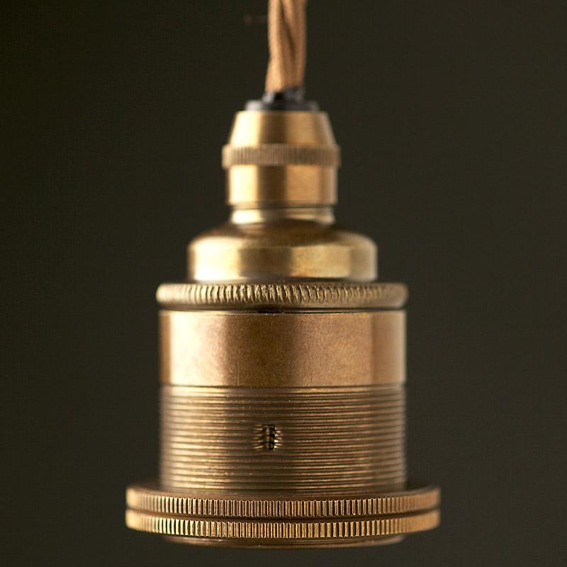 Antique Brass Pendant Lamp Holder, Copper Pipe Lamp Holder