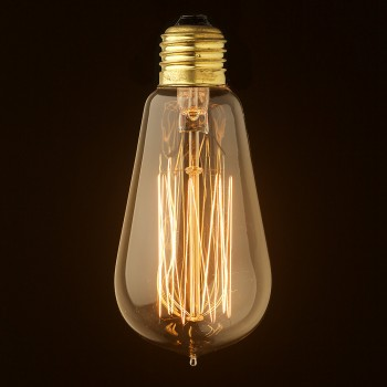 Vintage Edison Squirrel Cage Teardrop Filament Bulb