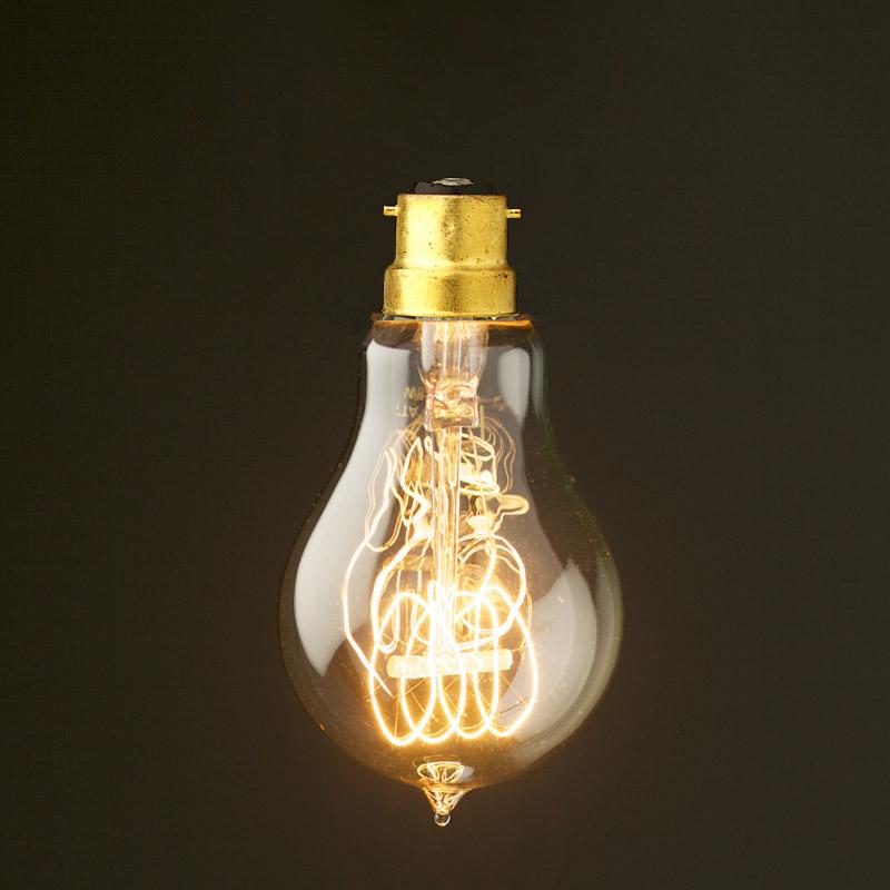 vintage edison round tungsten filament bulb. Black Bedroom Furniture Sets. Home Design Ideas