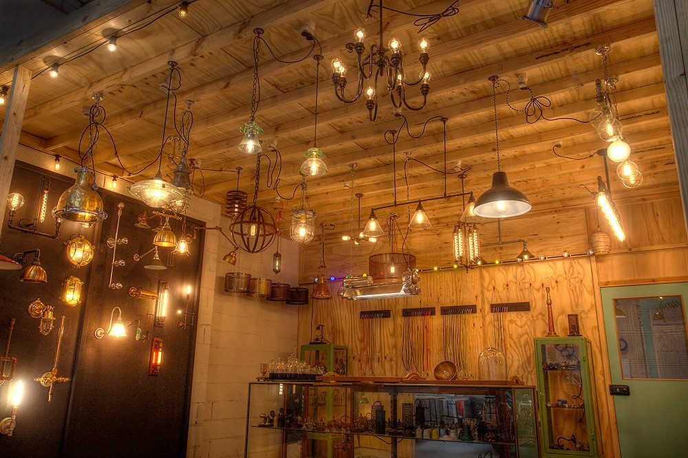 edison light globes showroom
