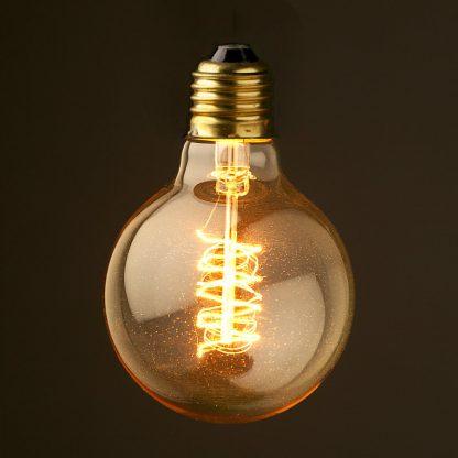 Vintage Edison G80 Spiral Filament Bulb