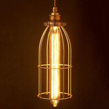 Vintage Edison long tube tungsten filament bulb 280mm