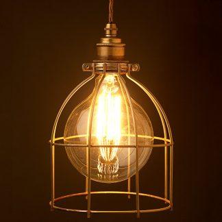 Vintage Edison fancy round tungsten filament bulb 125
