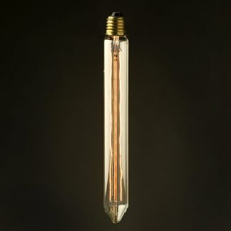 Vintage Edison long tube tungsten filament bulb 280mm