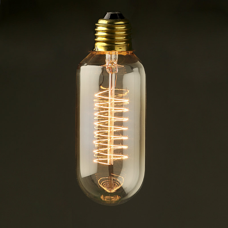 Vintage edison spiral tube tungsten filament bulb Tungsten light bulbs