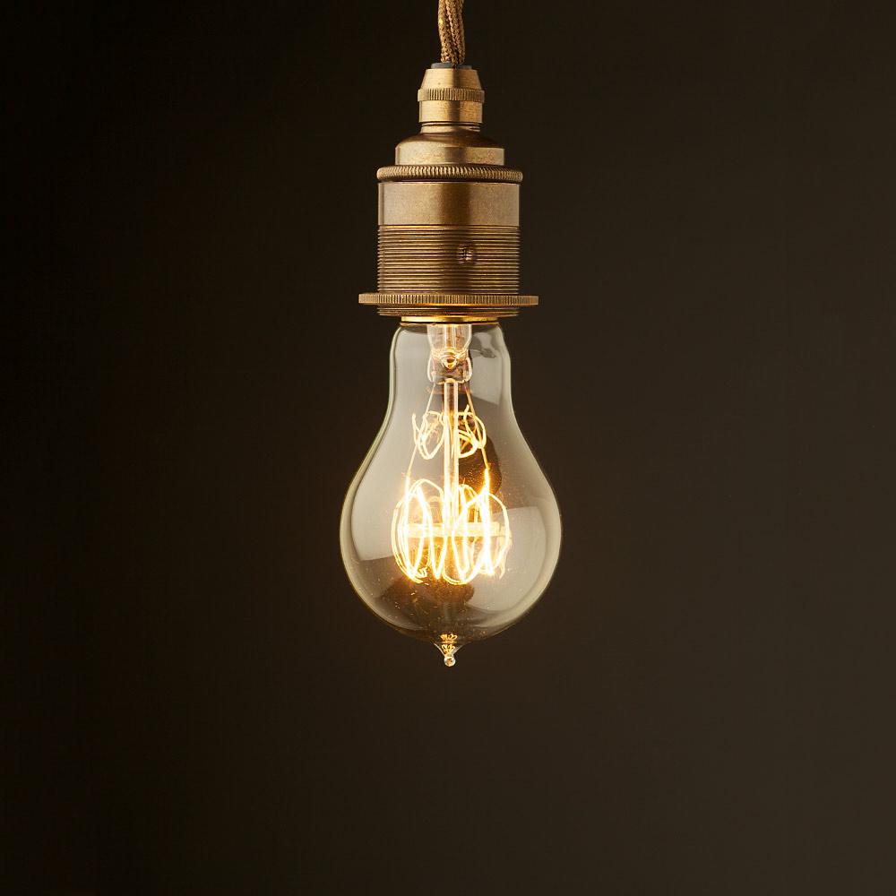 Hanging Light Bulb Fittings: Edison Style Light Bulb E27 Brass Fitting