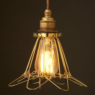 Trouble light antiqued cage fitting 6 inch