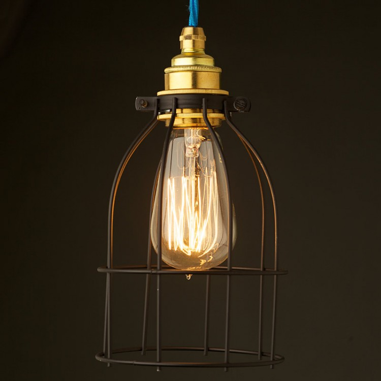 Light bulb black cage fitting 7 inch