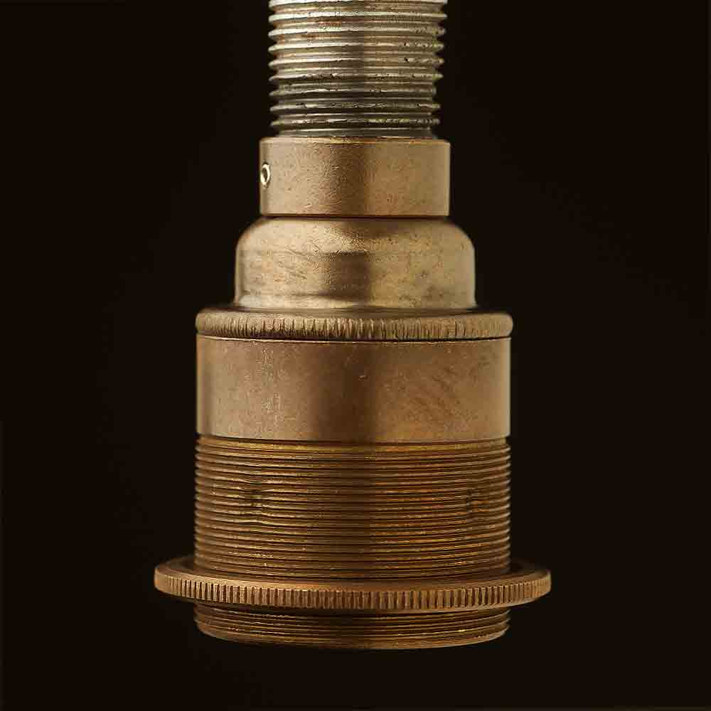 Brass Threaded Lampholder Edison E27 Fittingantique Brass