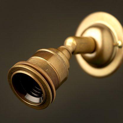 Brass Ball Joint Wall mount Lampholder E27 fitting