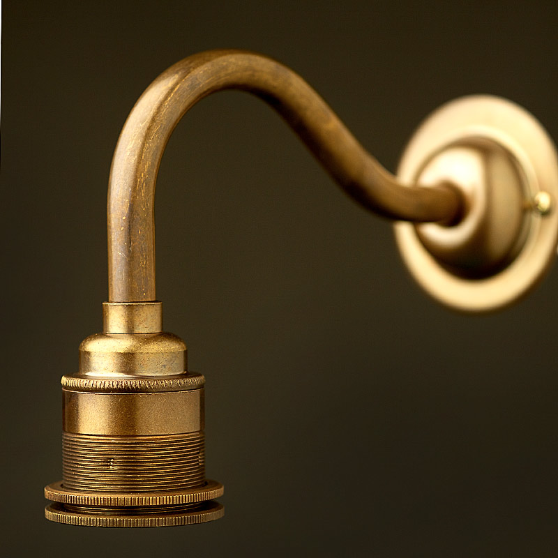 Wall Mount Lamp Holder : Brass Coventry Wall Mount Lampholder E27 Fitting