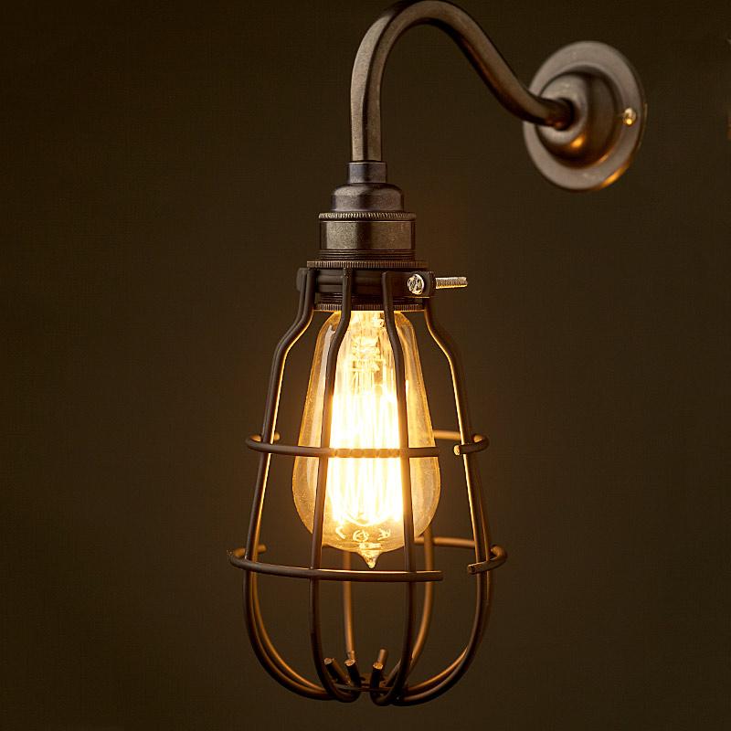 enclosed black light bulb guard fitting 7 inch. Black Bedroom Furniture Sets. Home Design Ideas